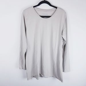 Soft Surroundings long sleeve tan tshirt top large